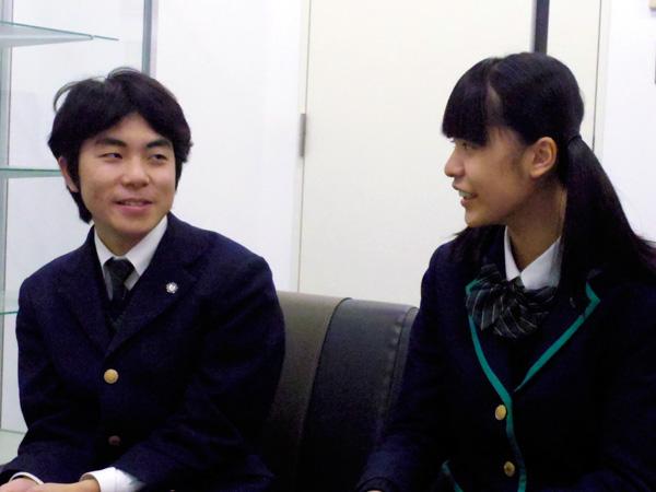インタビューに答えてくれた深谷くん(左)と丸山さん(右)2